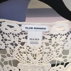 Club Monaco Jackets & Coats - Club Monaco flower pattern cotton lace vest